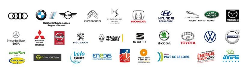 Logo des partenaires du salon : concessionnaires, distributeurs et partenaires institutionnels